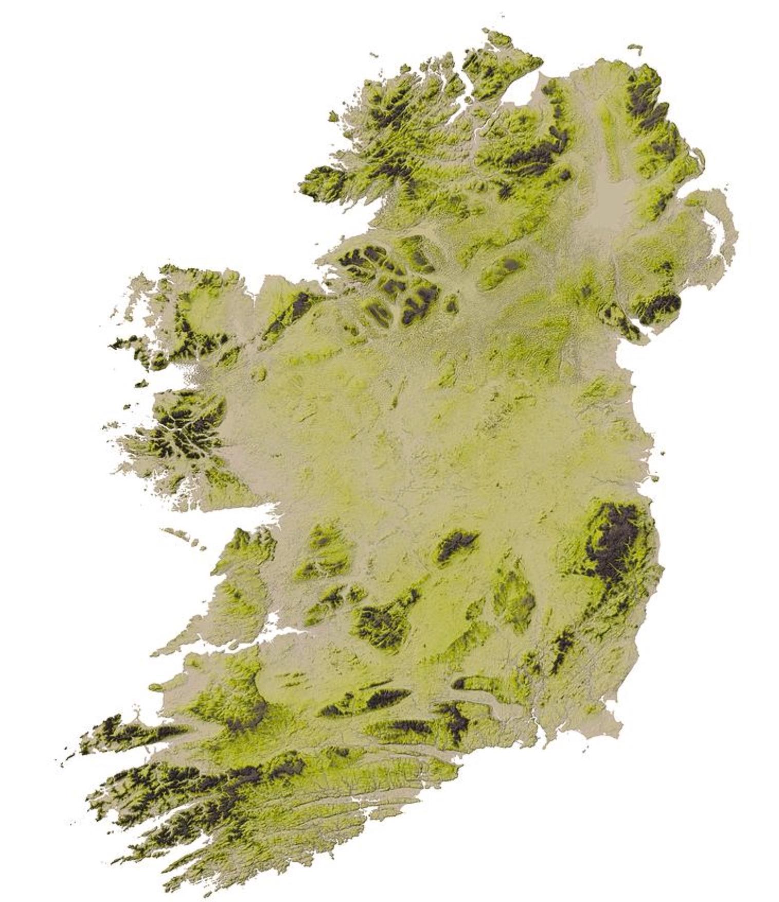 Cartina Geografica Dell Irlanda.Irlanda Topografica Cartina Mappa Geografica Dell Irlanda Europa Del Nord Europa