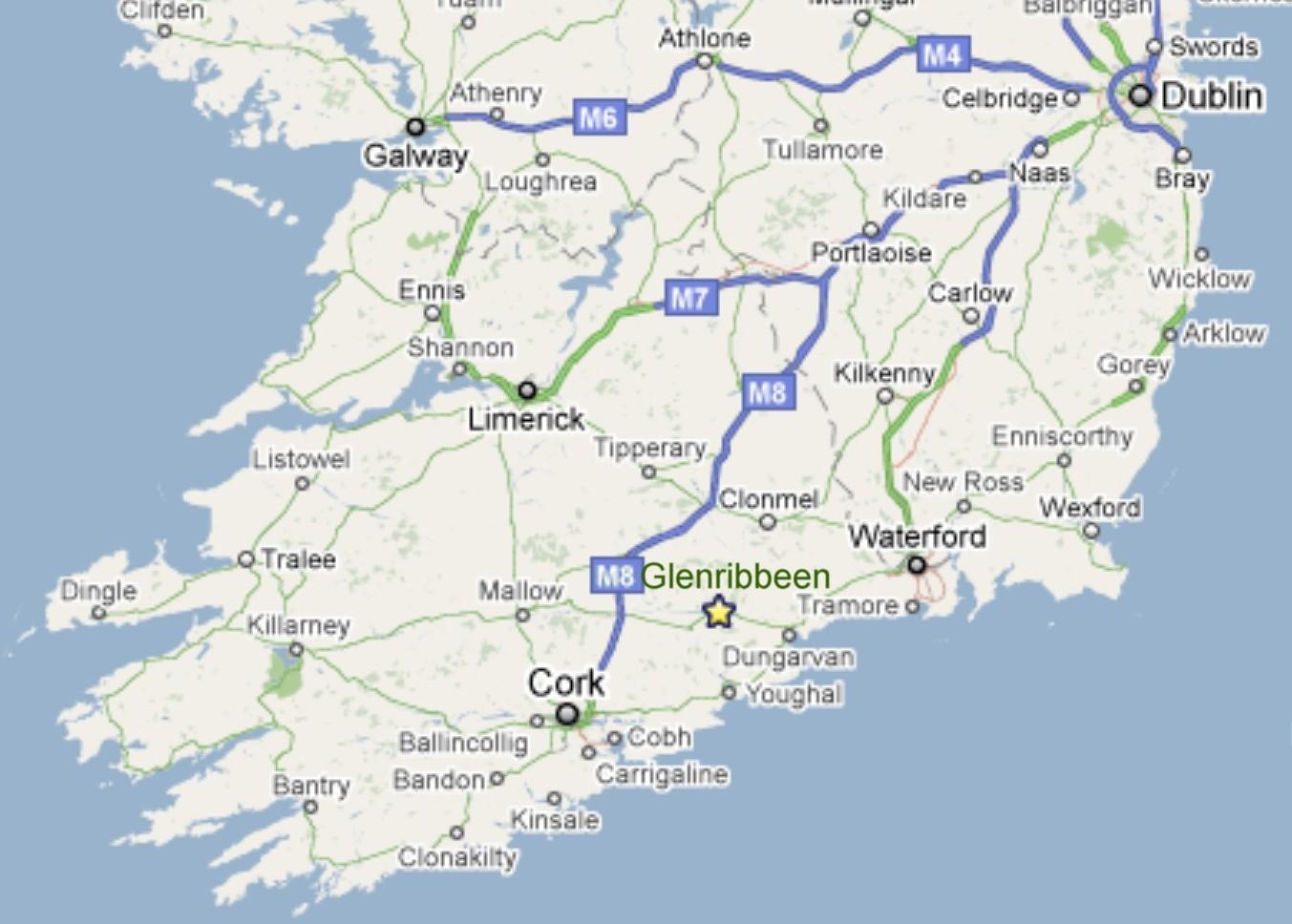Irlanda Del Nord Cartina.Mappa Di Irlanda Meridionale Una Mappa Dell Irlanda Del Sud Europa Del Nord Europa