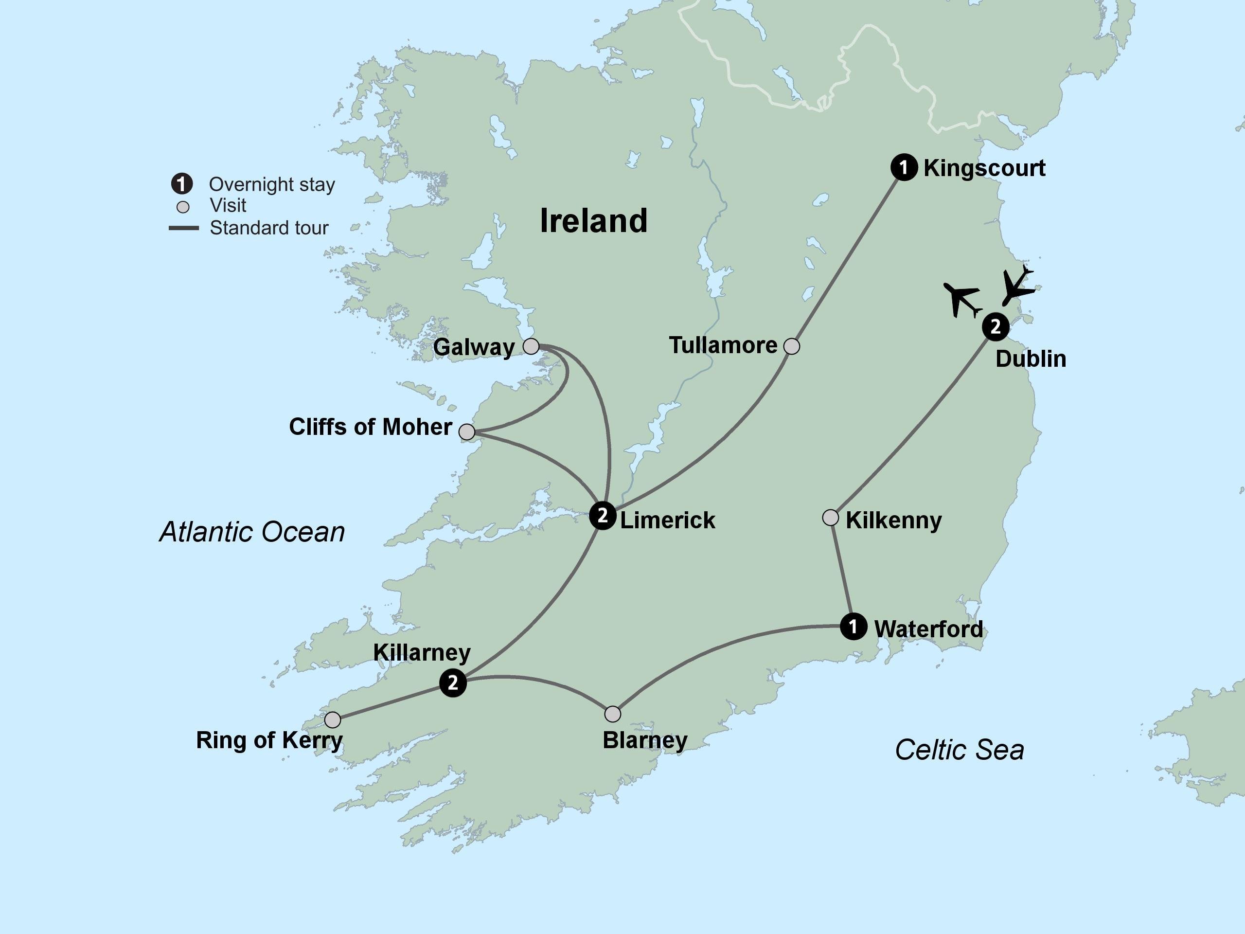 Europa Meridionale Cartina.Mappa Turistica Dell Irlanda Meridionale Mappa Di Mappa Turistica Dell Irlanda Del Sud Europa Del Nord Europa