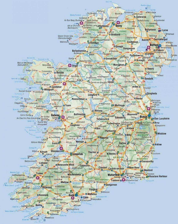 Mare D Irlanda Cartina.Mappa Di Irlanda Una Mappa Di Irlanda Europa Del Nord Europa