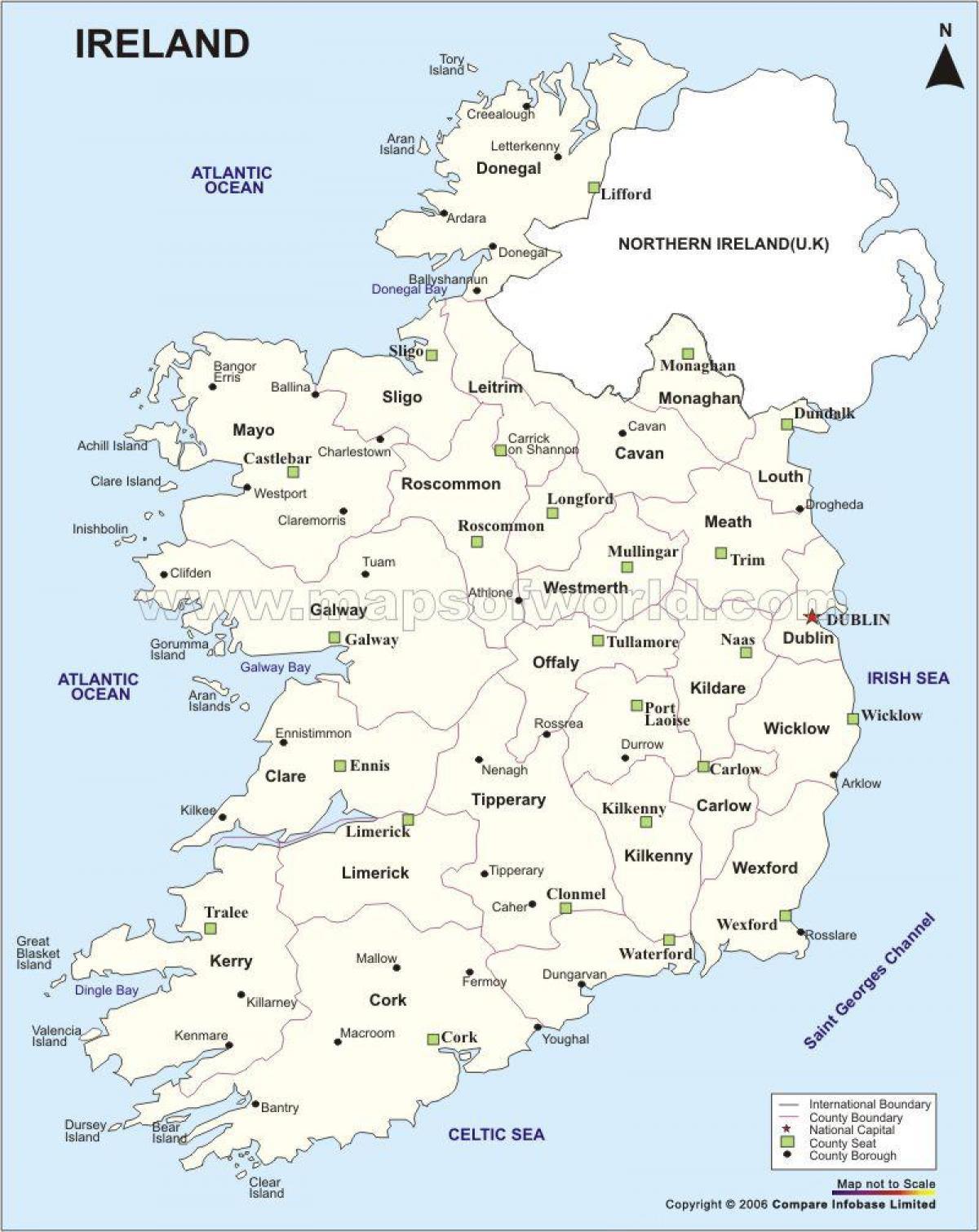 Cartina Politica Dell Irlanda.Mappa Politica Dell Irlanda Mappa Della Mappa Politica Dell Irlanda Europa Del Nord Europa