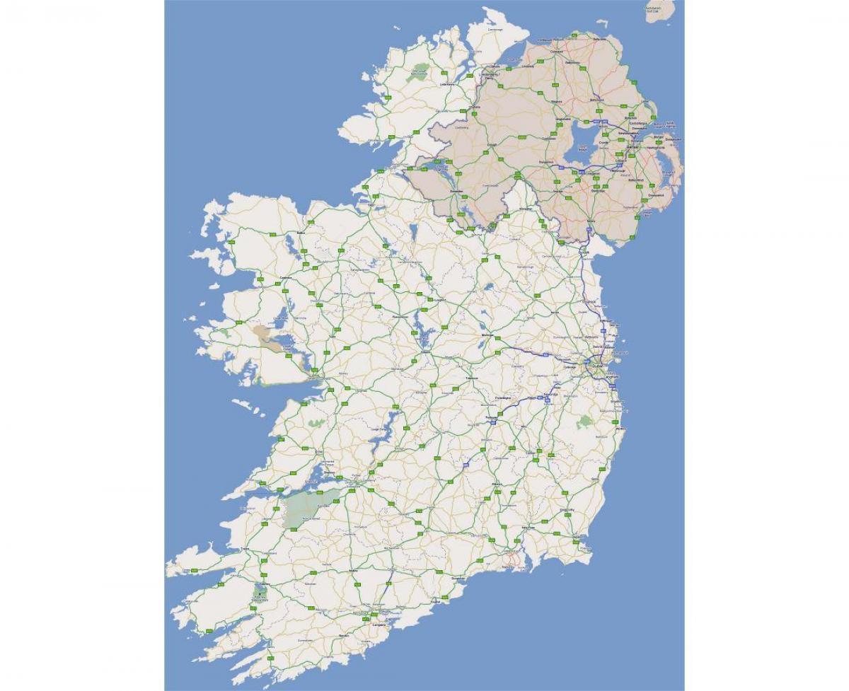 Irlanda Del Nord Cartina Geografica.Mappa Stradale Di Irlanda Occidentale Mappa Stradale Cartina Dell Irlanda Occidentale Europa Del Nord Europa