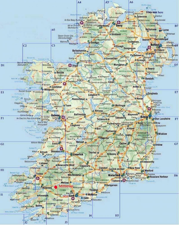 Cartina Stradale D Europa.Mappa Stradale Di Irlanda Mappa Stradale D Irlanda Europa